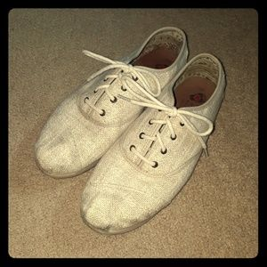 BOBS by SKECHERS Burlap Lace Up Shoes